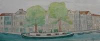 Barco con árboles