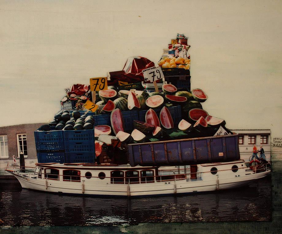 Barco cargado de sandias