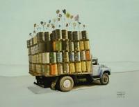 Camión de la flora