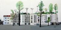 Ciudad entre árboles